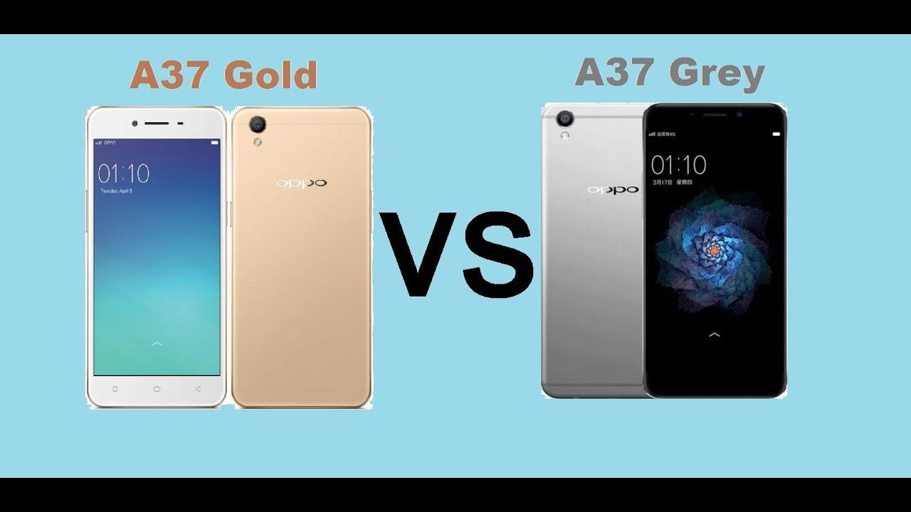 Oppo A37  Gold Vs Grey Color