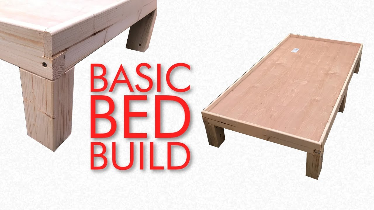 How To Make A VERY Basic Kids Bed Frame - YouTube