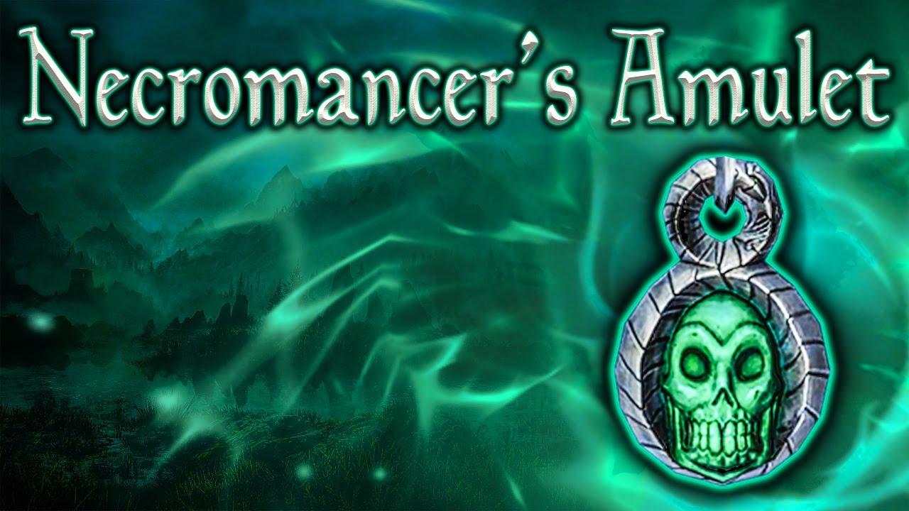 Skyrim SE - Necromancer's Amulet - Unique Jewelry Guide