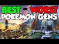 Every Pokemon Generation RANKED Best To Worst!