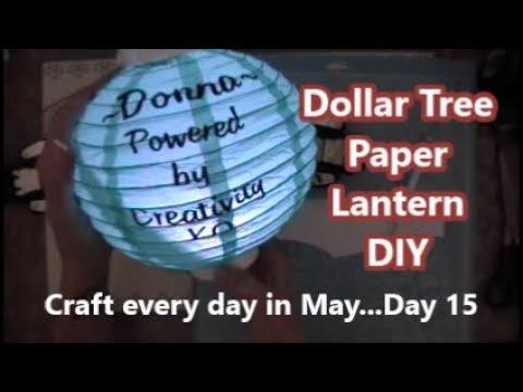 Dollar Tree Paper Lantern DIY