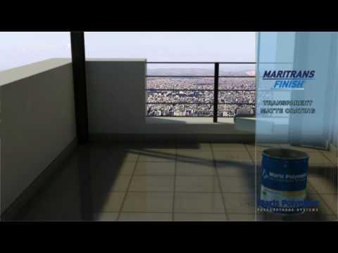 Balcony Tile Waterproofing Lication Maritrans Primer Finish Top Coat You