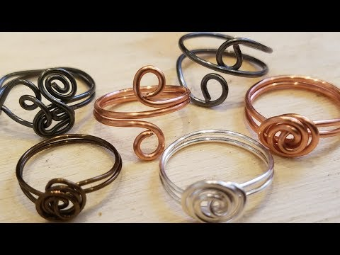 Simple Wire Rings   Eps 25