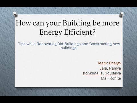 Energy Efficiency of Buildings Project