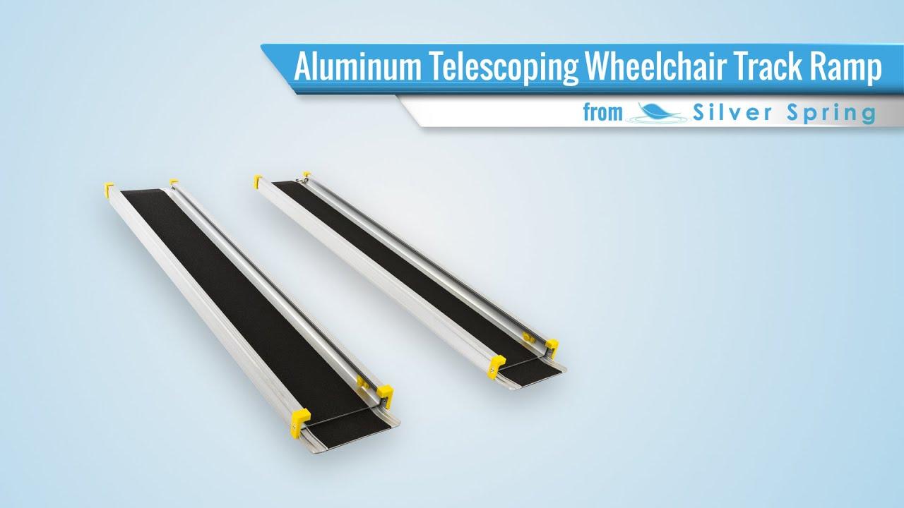 Aluminum Telescoping Wheelchair Track Ramps Youtube