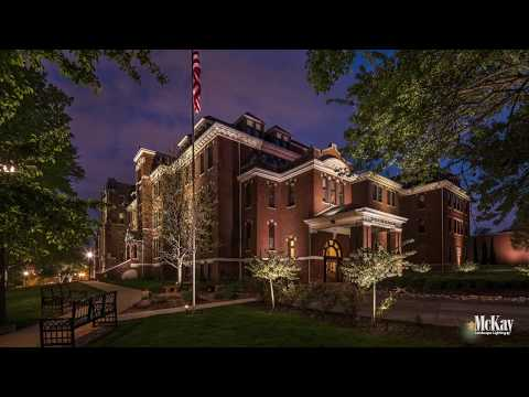 Duchesne Academy School - Omaha Nebraska | Educational Facility Landscape Lighting
