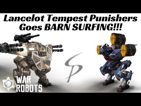 War Robots - Lancelot Tempest Punishers goes BARN SURFING!!! - Also Kumiho and Haechi Orkans