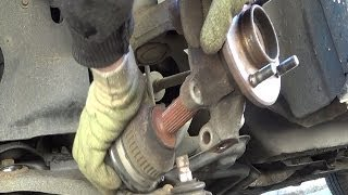Front wheel bearing replacement - Removal and refitting step by step