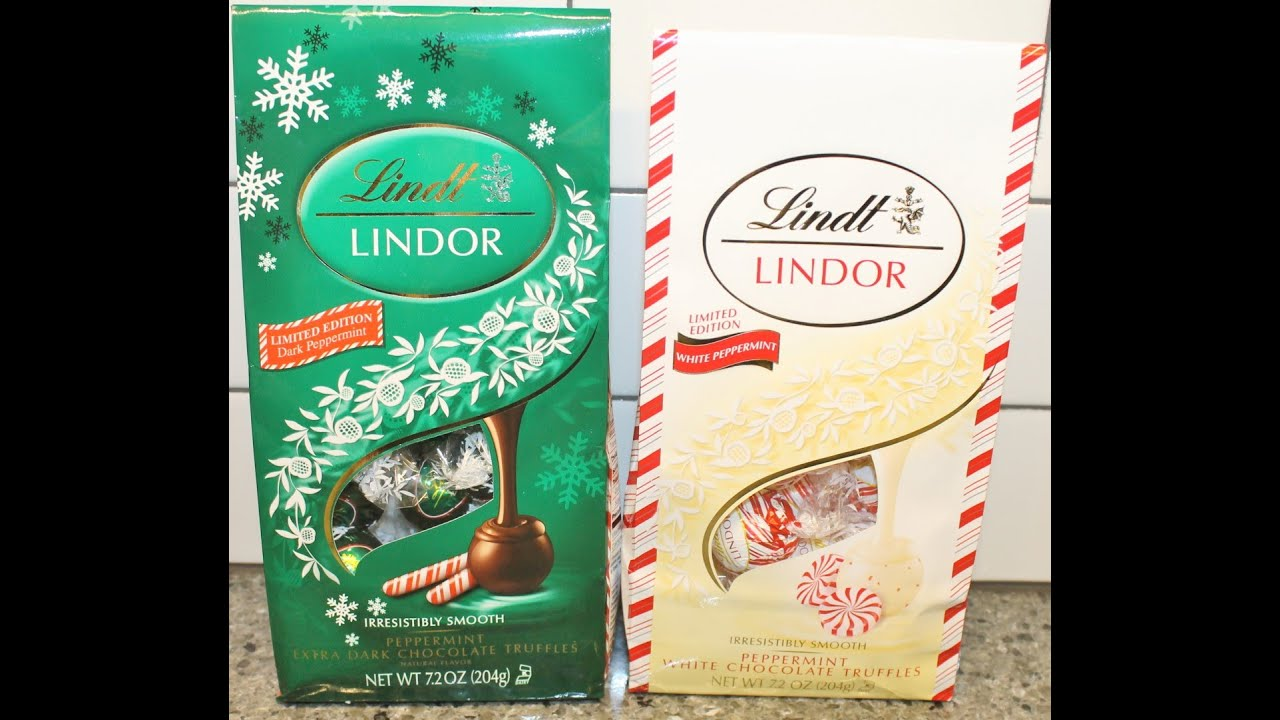 Lindt Peppermint White Chocolate Calories