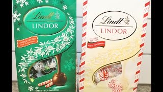 Lindt: Lindor Peppermint Extra Dark & Peppermint White Chocolate Truffles Review