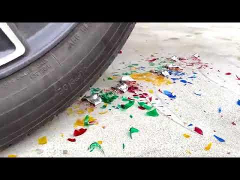 Crushing crushcn & soft things by car! Vs cos cola fant
