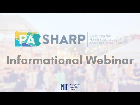 PA SHARP Informational Webinar