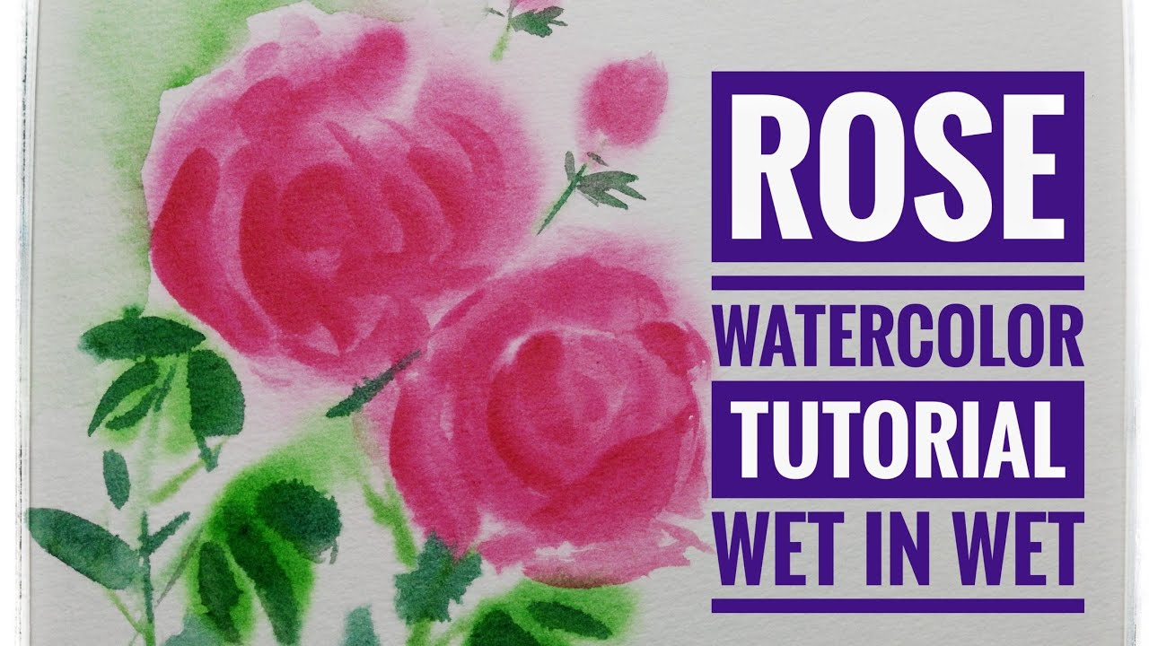 #artstudio2 #watercolourtutorial#painting Watercolor painting tutorial - Rose
