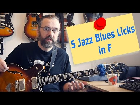 5 Jazz Blues licks in F