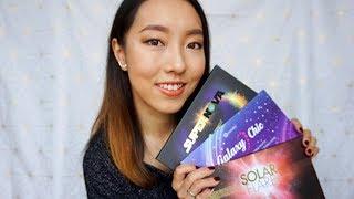 bh cosmetics星空系列眼影盘全试色|3 eyeshadow palettes swatch&review| galaxy chic, supernova, solar flare