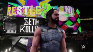 Seth Rollins Wrestlemania 34 Entrance - WWE 2K18