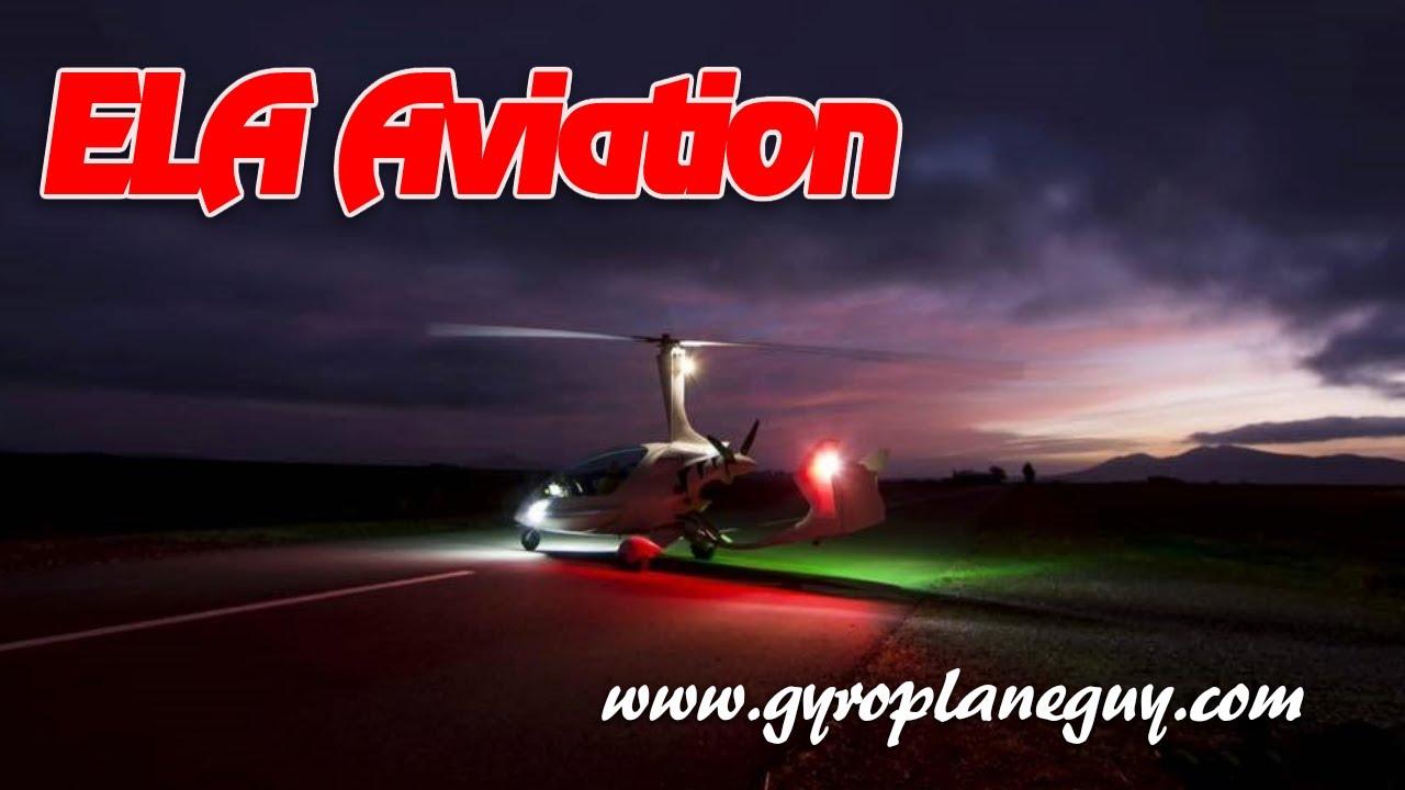 ELA 10, ELA 10 Eclipse gyrocopter, ELA Aviation's Eclipse Gyrocopter from  gyrocopterguy com