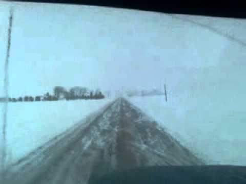 Winter trucking in North Dakota.
