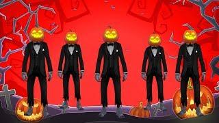 Cinco abóboras pulando na cama Canções Rimas infantis para crianças I Halloween Pumpkin Dance