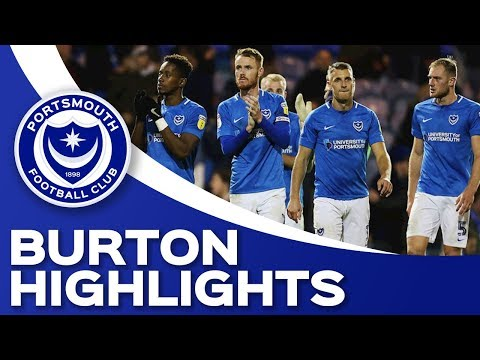 Highlights: Portsmouth 2-2 Burton Albion