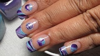Negative Space Water Marble Nail Art Tutorial