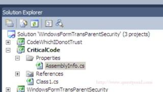 CAS(Code Access Secuirty) and Transparent model