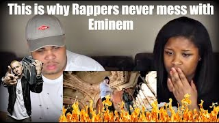 This is why Rappers never mess with Eminem Reaction!!
