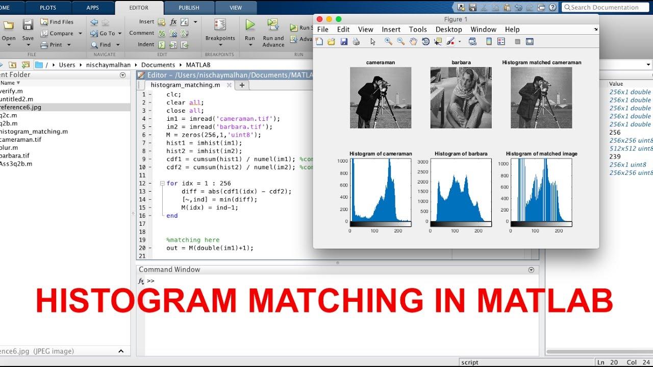 Histogram Matching   Matlab Code