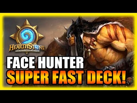 Hearthstone Highlights - Super Fast Face Hunter Deck!