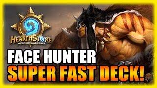 Hearthstone Highlights - Super Fast Face Hunter Deck!