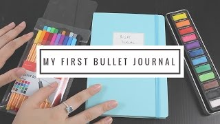 my first bullet journal flip through