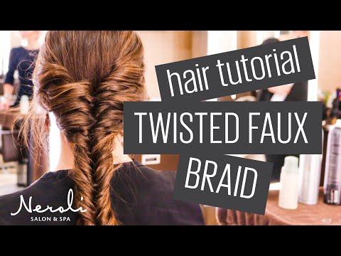 Hair Tutorial: Twisted Faux Braid