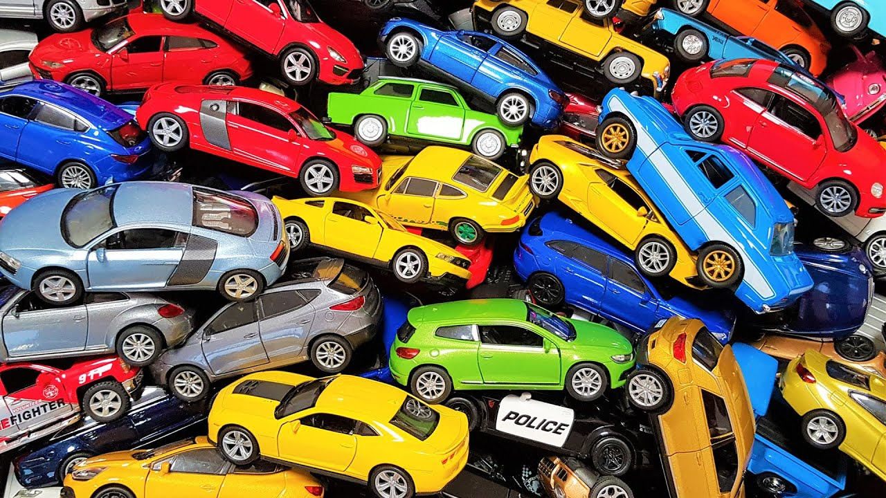 Awesome collection of Welly cars: box full of model cars  welly cars 1/43 and welly cars 1/34