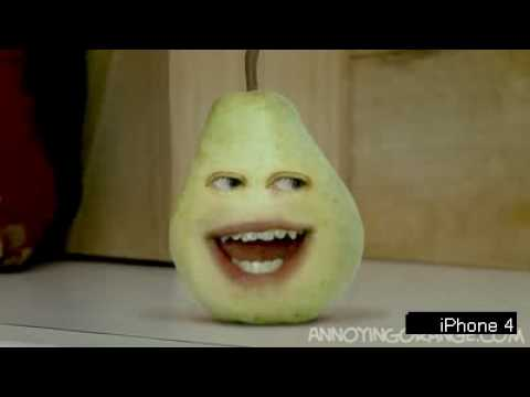 Iphone: Annoying Orange - Annoying Pear - YouTube