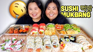GIANT LOBSTER ROLL SUSHI + SPICY TUNA ROLL + OCTOPUS + MASAGO MUKBANG 먹방 EATING SHOW