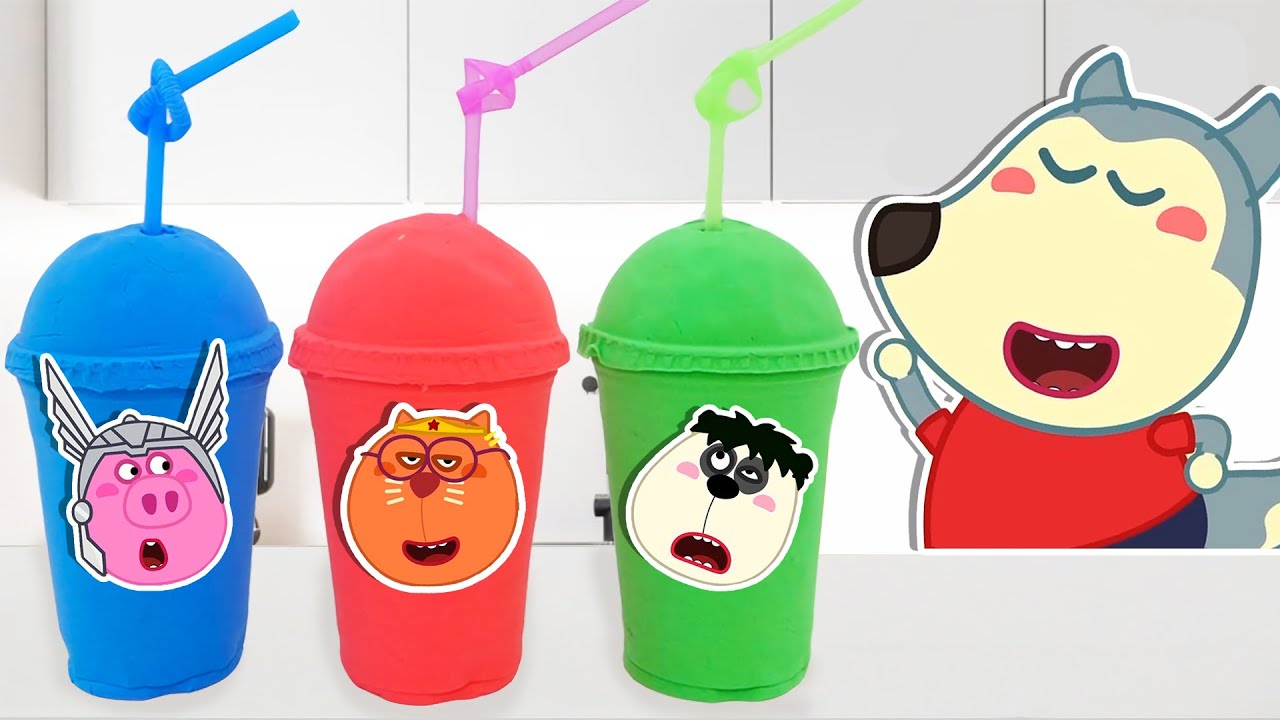 LYCAN Arabic 🌟 Lycan and Friends Pretend Play with Colorful Juice | Lycan's Funny Stories For Kids