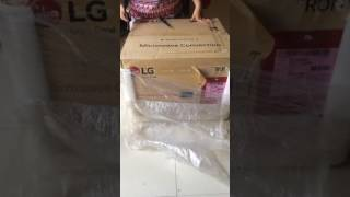 LG Microwave Unboxing