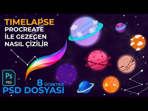 Gezegen Nasıl Çizilir - Procreate (8 Ücretsiz PSD Dosyası)