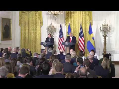 President Trump Welcomes PM Stefan Löfven