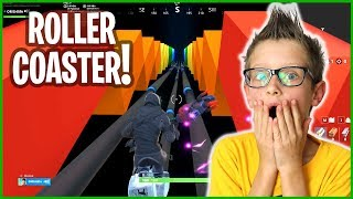 RIDING A ROLLER COASTER IN FORTNITE!!!