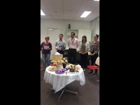 Brisbane Airport Lawyers sing 5 part harmony Happy Birthday to colleague! 🙊