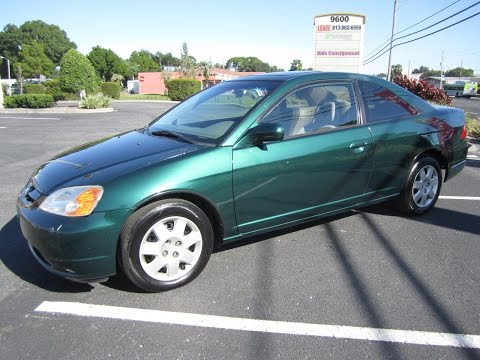 SOLD 2001 Honda Civic EX Coupe 84K Miles One Owner Meticulous Motors Inc Florida For Sale