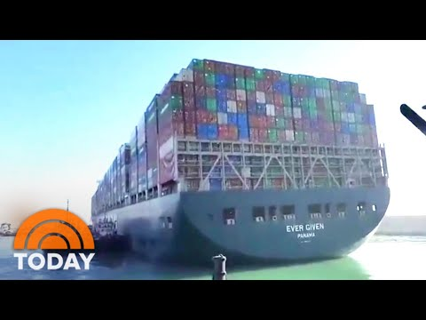Giant Ship Blocking Suez Canal Has Been Partially Refloated | TODAY