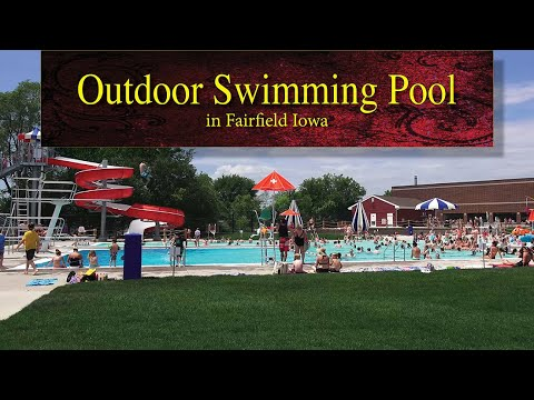 Outdoor swimming pool in Fairfield Iowa