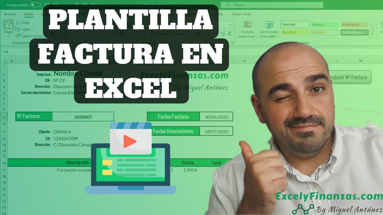 Plantilla Factura en Excel - [Tutorial 2020]