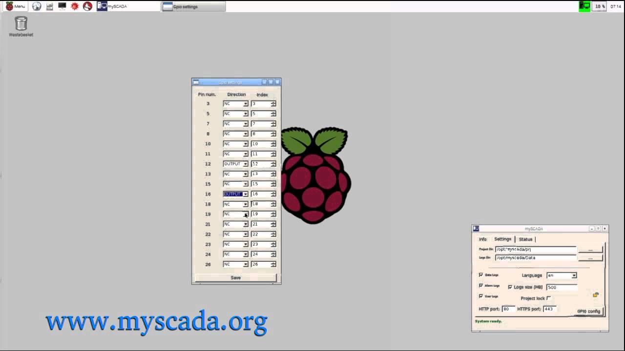 mySCADA - RaspberryPi 1,2 SCADA system