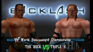 WWF No Mercy - The Rock vs. Triple H - Backlash 2000 (Expert)