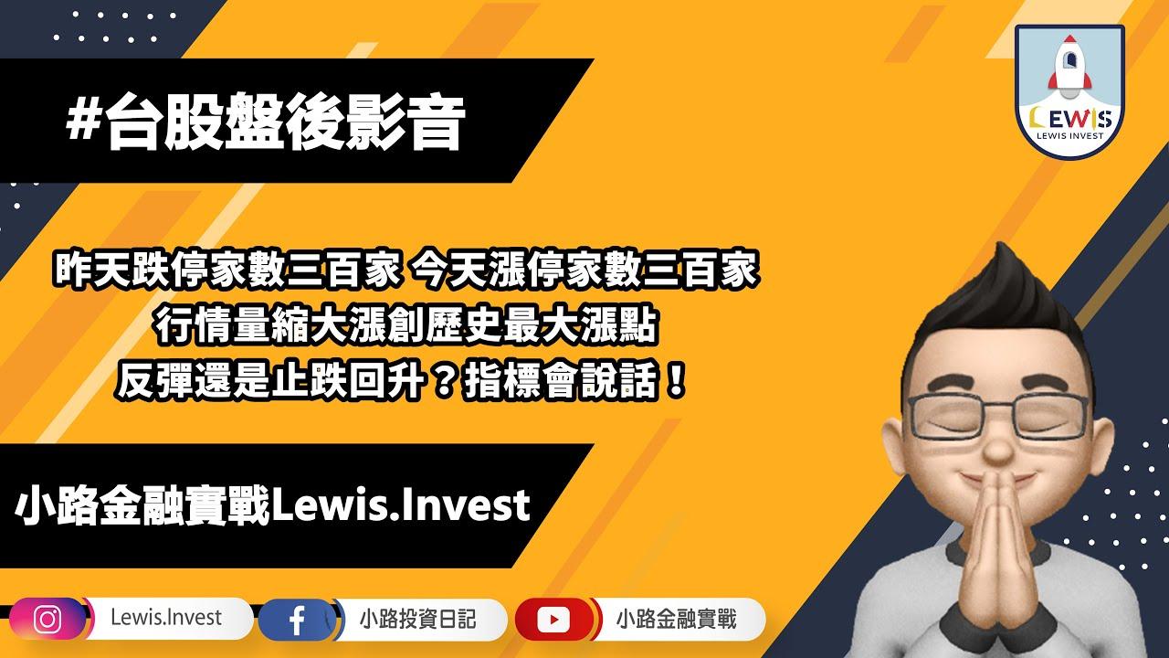 #小路投資日記 大盤創歷史最大漲點!反彈還是止跌回升?