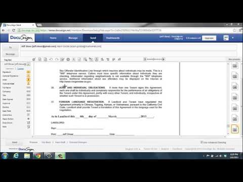 Docusign Tutorial by Jeff Shear