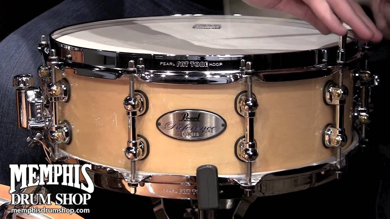 pearl 14x5 reference pure snare drum natural youtube. Black Bedroom Furniture Sets. Home Design Ideas